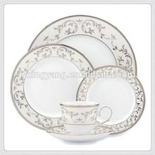 dubai dinnerware set high quality luxury porcelain tableware wholesale/commercial porcelain tableware matt finish