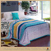 custom flannel fabric printing fitted bed sheet plush blanket