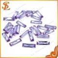 wuzhou precio de fábrica sueltas cz piedra lavanda forma oval de piedras preciosas artificiales