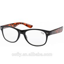montature per occhiali di plastica nera occhiali da lettura