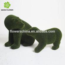Lovely grass bear wholesale,artificial grass animal,grass cutter animals for decoration