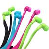 colorful 3.5mm ear jack waterproof shoelace earphone with mic