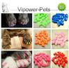 20Pcs/Pack Fashion Plastic Pet Nail Caps Color Dog Nail Grooming Covers Cat Claw Protection Nail Sets