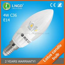 saving energy high lumen 4w led bulb,e14 led candle bulb lighting