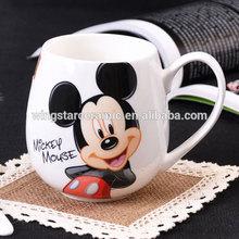 decal printing cartoon ceramic mug Wholesale ceramic porcelain cups