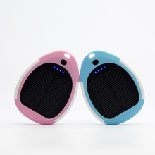 Cute Solar Mobile Phone Charger for Lover Outdoor Power Bank 3000mAh