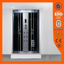 2015 new design AJL-3811 simple rectangle sliding white ABS steam shower room