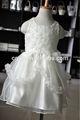 wuxi atacado laço branco menina crianças batismo vestido de tule com faixa de cetim design vestido para menina princesa vestidos flor gir