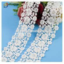 Bailange wholesale bridal flower cotton lace cotton crochet lace fabric for garment accessory