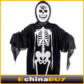 Halloween Masquerade Costumes Props kids adult Skull Skeleton Ghost Clothes with face masks