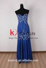 Latest-fashion-sexy-evening dress gold evening dress malaysia online shopping royal blue elegant evening dress