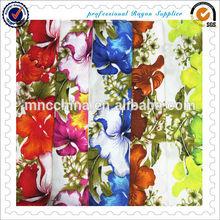 100% Spun Printed Rayon Fabric, Rayon Printed Fabric