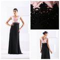 glamour bordado frisado elegante backless vestido de noite galaxy lantejoulas vestido da dama elegante manga curta vestido formal