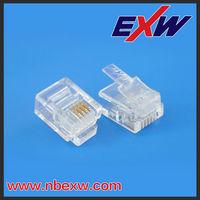 EXW high quality E136825 RJ11 RJ12 UL telephone connector