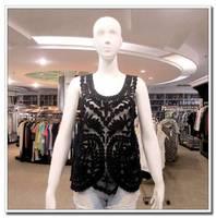 2015 Summer New Fashion Women Short Sleeve Neaded T-shirt