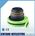 verde fluorescente de alta visibilidade reflexiva lavável de algodão listrado de nylon do webbing fita
