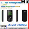 Chinese factory wholesale 1.77 inch mobile phone whatsapp skype facebook function model K13