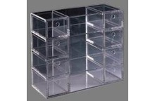 clear rectangle acrylic makeup display cabinet /plexiglass display drawers