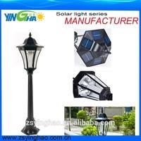 Hot sales manufacturer garden solar bollard light with 1.2M pole