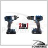 POWERTEC cordless drill tool box,battery impact driver combo kits
