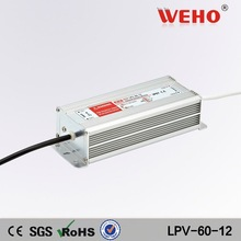 low noise ac-dc constant voltage 12v 60w waterproof power supply 12v led driver