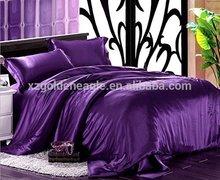 Christmas Shopping:4 pcs Western Style Luxurious Reactive Printing Purple silk Bedding Set