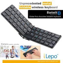 Aluminum bluetooth keyboard, foldable mini keyboard, bluetooth keyboard for samsung galaxy mega 6.3/5.8