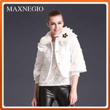 Girl's lovely babydoll styles winter coat cheap fleece jacket