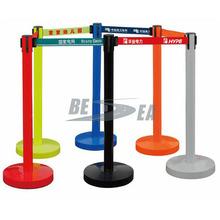 Colored Plastic Retractable Belt Queue Barrier Manage