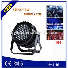 concert events 54pcs*3w rgbw led par light, china manufacturer/supplier led outdoor light