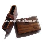 2014 interesting handmade woods wallets,solid walnut wood business card holders