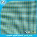 100 hilados de algodón teñido de tela tejida