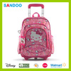 China product new style school bag , cartoon polyester kids trolley school bag