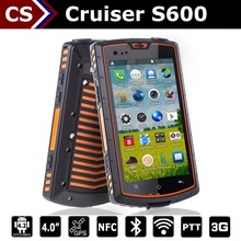 Cruiser S600 outdoor android 4.2 mobile industry phone with uhf PTT NFC NXP547 A-GPS gorilla glass 1.2GHz
