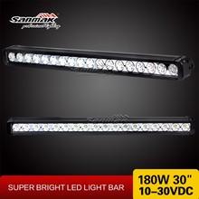 Single 10W led truck forklift work light high power 180W offroad led light bar
