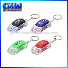 Cheap Flashlight Keychains Custom Plastic keylight LED Car shaped Key Tag for promotional gifts