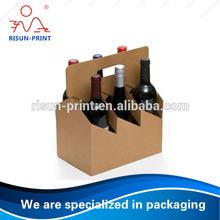 Kraft paper Portable wine carrier supplier