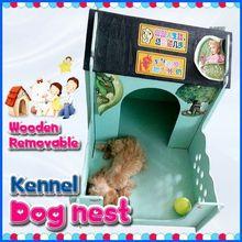Eco-friendly material wooden fleece pet nest