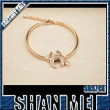 Friendship engraved gold bracelets for women