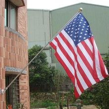 aluminum wall flag pole with bracket