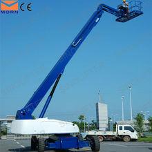 38m hidráulico telescópico boom elevador máquina