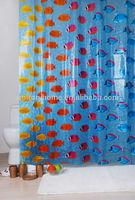 Printed Rainbow 3D EVA Transparent fish design shower curtains