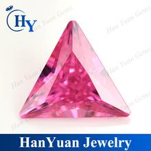 China Pink Triangle Design Cubic Zirconia Polished Diamonds
