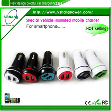 tablet 2 ports car charger,2 usb ports dual usb car charger