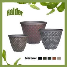 "11"" Bell Quilt Round Shape Plastic Flower Pot"