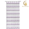european style high-quality drape curtains purple sheer voile stripe curtain for house