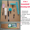 Cleaning equipment (Aluminum Telescopic pole , roof /ceiling /bathroom /conner brush ,window scraper and bulb changer