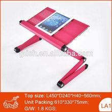 Folding adjustable laptop bed table, most popular folding laptop desk