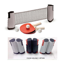 retractable ping pong set with post net