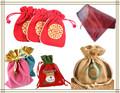 özel küçük katlanabilir jüt giftbag, snowflake organze hediye çanta